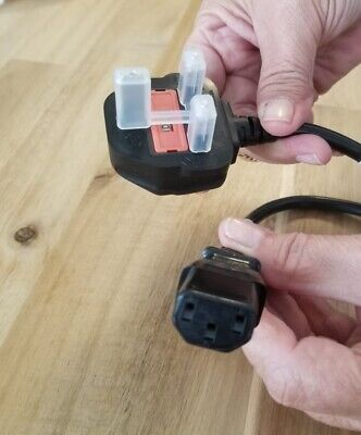 $2.99 • Buy AC Power Black Cord Cable 1.8m 3-Contact UK Plug To C13 3 Pin Connector F/ PC
