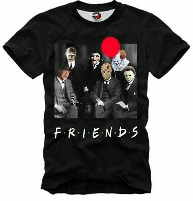 E1syndicate T Shirt F.r.i.e.n.d.s Jason Hellraiser Freddy Pennywise It 2 4685 • 15.98£