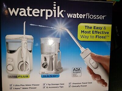View Details  SEALED Waterpik Water Flosser Ultra Plus WP-150W  Nano Travel WP-310W  • 49.99$