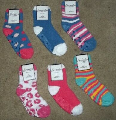 $1.49 • Buy NEW Women's Snugadoo Too Non-Skid Fuzzy Fluffy Socks Sz 9-11 6 Colors NEW