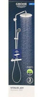 Grohe Vitalio Joy System 260 Shower With Thermostat & Easy Reach Tray • 299.95£
