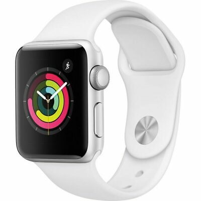 $ CDN328.49 • Buy Apple Watch Series 3 GPS With White Sport Band 38mm Silver Model MTEY2LL/A