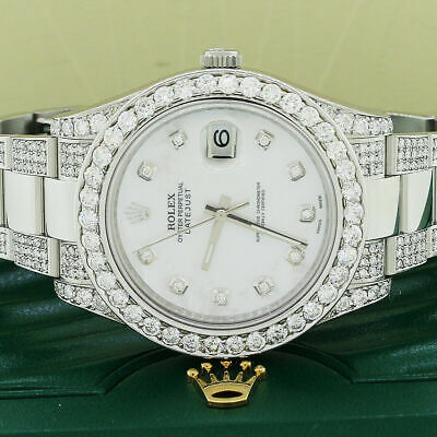 $ CDN17166.08 • Buy Rolex Datejust II 41mm 8CT Diamond Bezel/Bracelet/Dial Watch 116300 Box Papers
