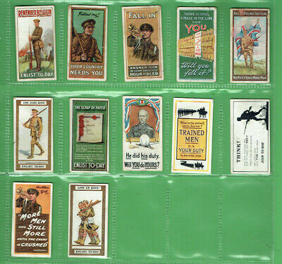 £65.05 • Buy #gg1.   Set(12)  1915  Recruiting Posters  Wills  Cigarette Cards