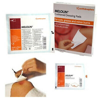 £1.69 • Buy Melolin Sterile Wound Dressing Non-Adhesive First Aid | All Sizes 5cm 10cm 20cm