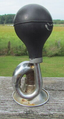 $19.99 • Buy Vintage Squeeze Rubber Bulb Bicycle Metal Air Horn Bugle Works