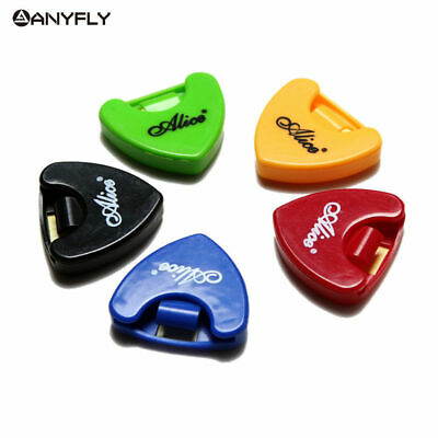 $ CDN7.42 • Buy Durable 5Pcs/Set  Alice A010A Plastic Guitar Picks Holder Triangle Shape Accesso