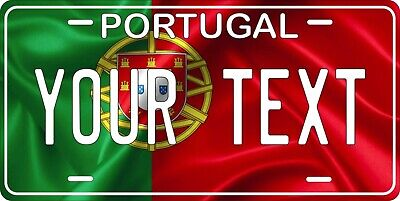 Portugal Flag Wave License Plate Personalized Car Auto Bike Motorcycle Custom • 12.09£