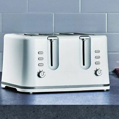 AU49.90 • Buy 4 Slice White Toaster Variable Browning Control Defrost Reheat Cancel Crumb Tray