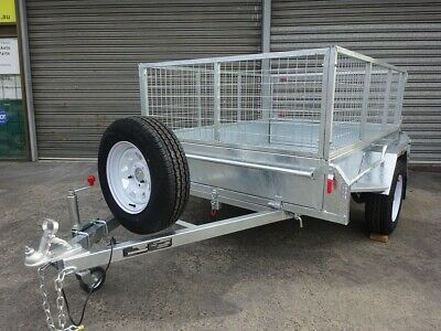 AU3000 • Buy 7 X 5 Tipper Box Trailer With 600mm Cage