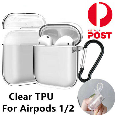 AU7.69 • Buy Apple Airpods 1 2 Case Cover Clear Transparent Skin Soft TPU Shockproof Holder