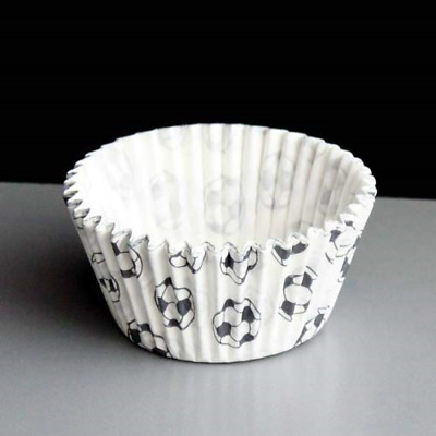 £9.37 • Buy White High Quality Muffin Cupcake Cases With Footballs On, Pack Of 36