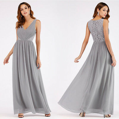 Ever-Pretty V-neck Long Formal Bridesmaid Dresses Ball Gown Party Dresses 07497 • 26.99£