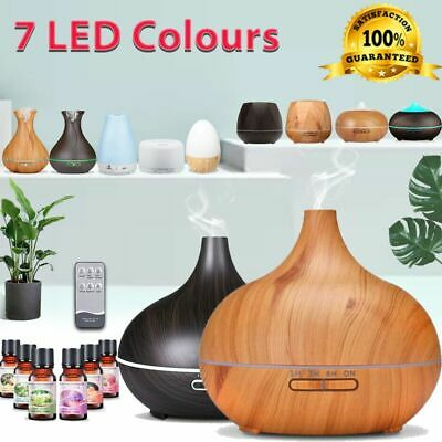 AU20.89 • Buy Diffuser Aroma Aromatherapy LED Essential Oil Ultrasonic Air Humidifier Purifier