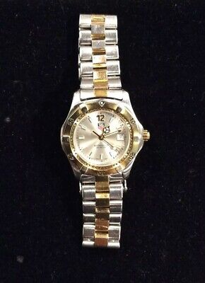 Tag Heuer WK1320 Classic Professional SS Watch Womens Silver 2-Tone Gold • 239.99$