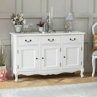 French Chateau Painted Oak 3 Drawer 3 Door Large Sideboard- BRAND NEW- FW23 • 429£