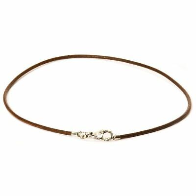$18 • Buy Trollbeads Leather Necklace 16.5 , New Dark Brown