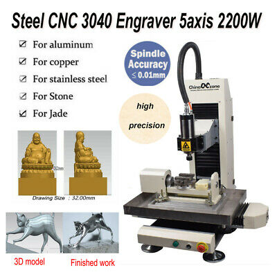 $ CDN6696.16 • Buy Steel 5axis 2200W CNC 3040 Router Engraver Milling Cutting Carving DIY Machine