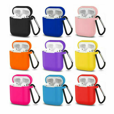 $ CDN3.82 • Buy AirPods Silicone Case Protective Cover +KeyChain For Apple AirPod Charging Case