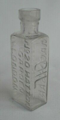 Clear Glass Rowlands Magassar Oil Bottle - 20 Hatton Garden London - Hair Oil • 12£
