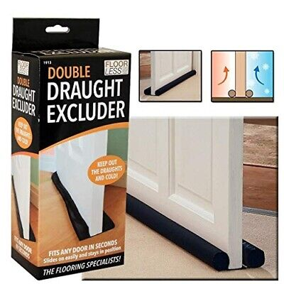 Double Draught Excluder Door Insulation Double Sided Twin Guard Energy Saving • 5.52£