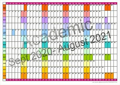 ACADEMIC YEAR WALL PLANNER Office Organiser Event Planner  Sept 2020 - Aug 2021 • 5.55£
