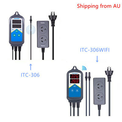 AU43.19 • Buy Inkbird Digital Waterproof Only Heating Temperature Controller 10A Thermostat AU