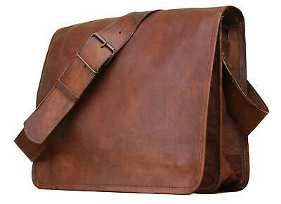 Women Genuine Real Distressed Tan Leather Handbag Shoulder Bag Satchel Messenger • 28£