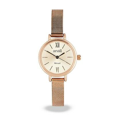 Anaii Minuet Watch - ROSE GOLD - Stainless Steel Mesh Strap Fashion Watch BOXED • 32.99£