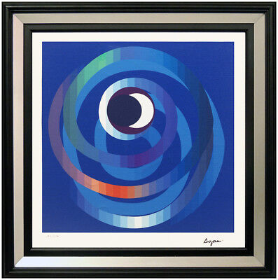 $1895 • Buy Yaacov Agam Original Giclee On Canvas Sun Moon Intimacy Signed Op Art Agamograph