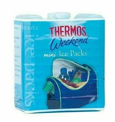 Thermos Pack Of 2 Mini Ice-Packs Blocks Ideal For Lunch Boxes 2 X100g • 3.30£