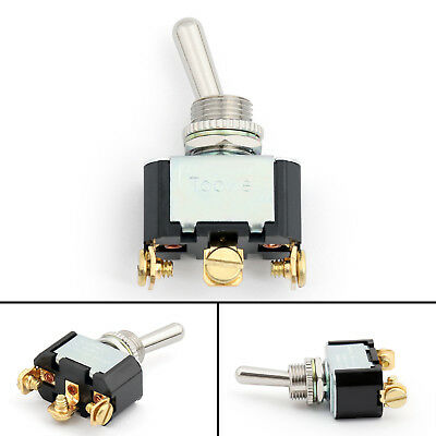 1Pcs 12mm Toggle Switch 3 Pin 3 Position ON-OFF-ON 10A 250VAC Industrial UE • 5.95$