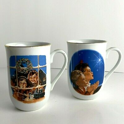 $ CDN18.86 • Buy Norman Rockwell Collection Set Of 2 Coffee Cups Mugs Christmas Children