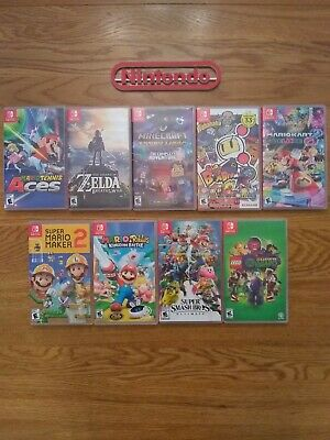 $109 • Buy Nintendo Switch 9 Cases (no Games) Lot!