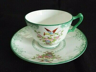 Vintage Crown Staffordshire  Hand Painted Tea Cup & Saucer • 4.50£