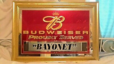 $ CDN189.85 • Buy Budweiser Beer Sign Mirror Proudly Served  Bayonet