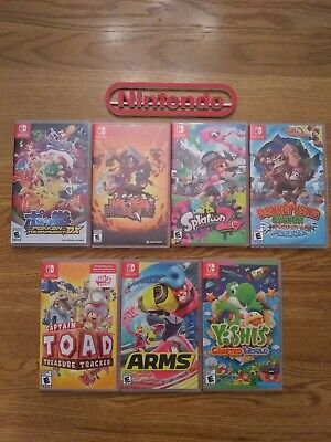 $83 • Buy Nintendo Switch 7 Cases (no Games) Lot!