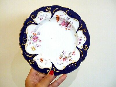 Antique Porcelain Dessert Plate By Ridgway, Cauldon Works. C.1840. Hand Painted • 10£