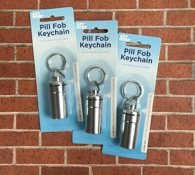 $9.99 • Buy Travel Deluxe Keychain Pill Holder Ezy Dose Pill Fob Airtight Seal - Large, 3 Pk