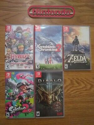 $65 • Buy Nintendo Switch 5 Cases (no Games) Lot!