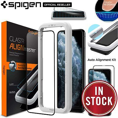 AU19.99 • Buy SPIGEN GLAS Full Cover AlignMaster For Apple IPhone 11 Pro XS X Screen Protector