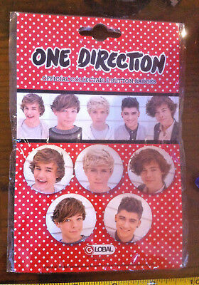 £3.99 • Buy 1D One Direction Badges X5 Claire's Claires Accessories Official £5 RRP
