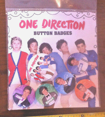 £3.49 • Buy 1D One Direction Badges X6 Claire's Claires Accessories Official £4.50 RRP