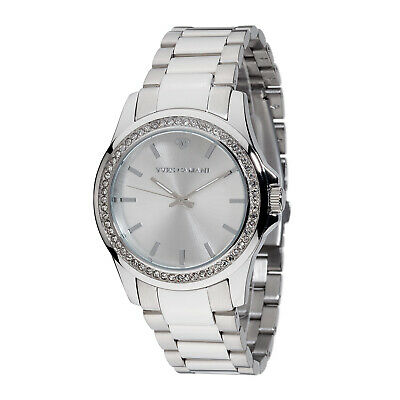 YVES CAMANI Montpellier Womens Watch Stainless Steel Silver Zirconia Stones New • 89£