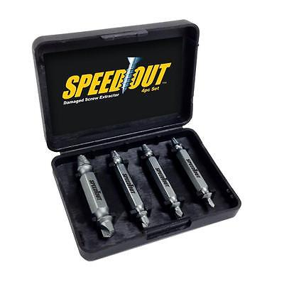 Remover 4PCS Speed Out Set Damaged Screw Extractor Bolt Bits Guide Tool Drill UK • 3.14£