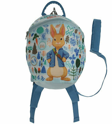 Peter Rabbit Boys Rein Bag Baby Blue Parental Control Toddler Backpack Age 1-4 • 12.99£