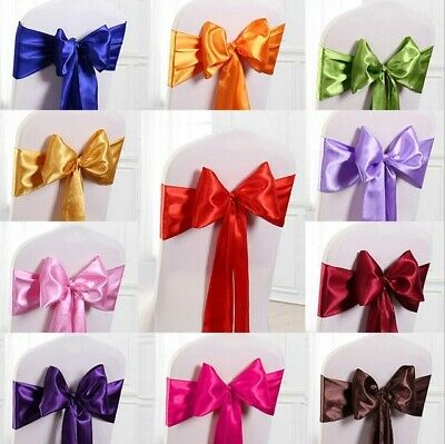 £1.49 • Buy SATIN CHAIR COVER BOW SASH FOR VENUE DECOR 1, 25, 50 Or 100 PACK - 24 COLOURS