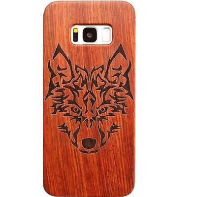 AU11.46 • Buy Wolf Design Wood Case For Samsung S8 Plus