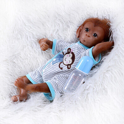 18 Inch Reborn Monkey Doll Newborn Monkey Doll Lovely Animals Toys Lifelike Doll • 49.99£
