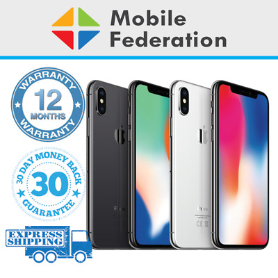 AU439 • Buy Apple IPhone X 64GB 256GB A1865 Unlocked Space Grey Silver [Au Stock]